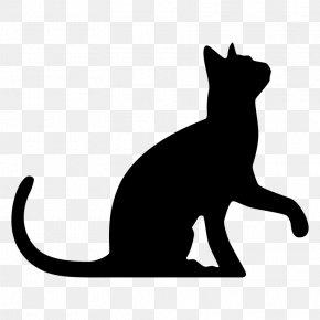 Silhouette - Sphynx Cat Silhouette Kitten Clip Art PNG