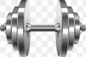 Vector Barbell - Weight Training Barbell Dumbbell Clip Art PNG