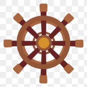 Ship - Ship's Wheel Car Clip Art PNG