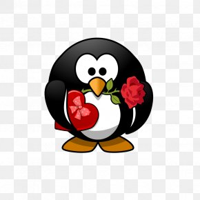 Small Valentine Cliparts - Wedding Invitation Penguin Valentine's Day Gift Greeting & Note Cards PNG