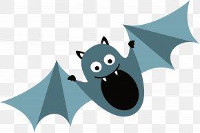 Blue Bat - Bat Clip Art PNG
