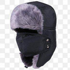 Lei Feng Cap Black - Hat Ushanka Cap Winter Fur PNG