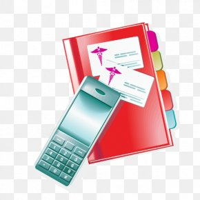Book And Phone - Medicine Medical Equipment Clip Art PNG