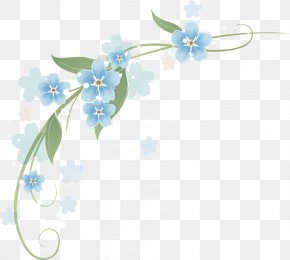 Spring Flowers Background Corner - Clip Art Flower Borders And Frames Floral Design PNG