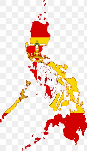 Eastern - Flag Of The Philippines Map PNG