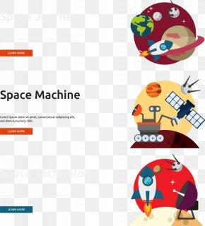 Vector Space Rocket Flat - Flat Design Outer Space Rocket Euclidean Vector PNG