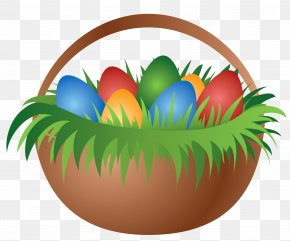 Painted Easter Basket With Easter Eggs Picture - Easter Bunny Easter Egg Easter Basket Clip Art PNG