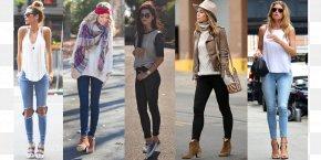 Winter Summer - Jeans Denim Leggings Fashion Shoulder PNG
