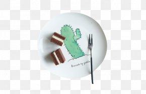 Cactus Pattern Plate Material - Plate Ceramic Tableware Porcelain Bone China PNG