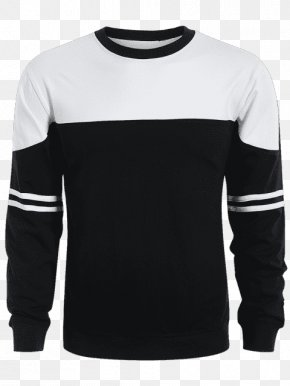 T-shirt - T-shirt Hoodie Sleeve Crew Neck PNG