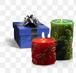 Christmas Gift,candle - Christmas Candle Gift PNG