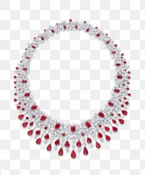 Jewellery - Earring Graff Diamonds Jewellery Necklace Ruby PNG
