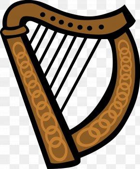 Musical Angel Cliparts - Ireland Celtic Harp Clip Art PNG