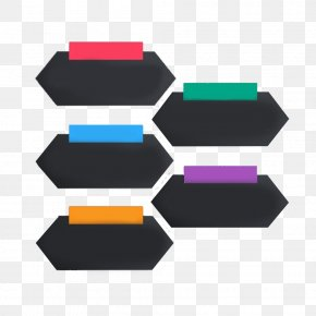 Colored Rectangles And Hexagons PPT Decorative Pattern - Brand Pattern PNG