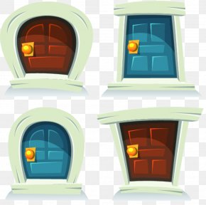 Closed Doors Closed - Cartoon Door Royalty-free Illustration PNG