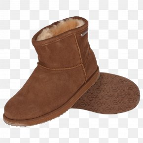Boot - Snow Boot Shoe EMU Australia Suede Stiletto Heel PNG