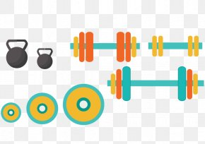 Dumbbell Barbell Sports And Fitness - Exercise Equipment Euclidean Vector Physical Exercise Weight Training PNG