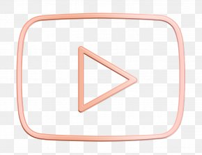 Triangle Pink - Youtube Icon Social Media Icon PNG