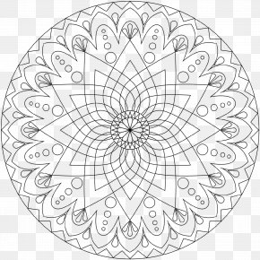 Child - Coloring Book Mandala Colored Pencil Child PNG