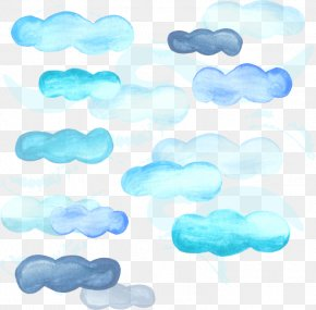 Watercolor Painted Clouds - Watercolor Painting Sky Cloud PNG