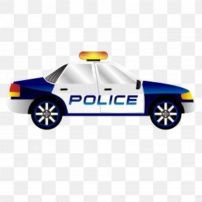 Vector Traffic Blue Police Car - Daddy Pig Police Car Police Car Prison PNG