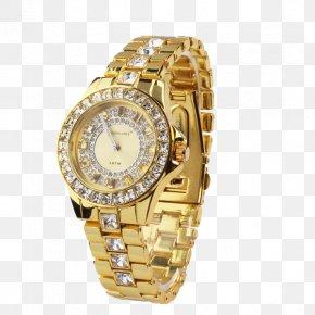 Watch - Watch Quartz Clock Gold PNG