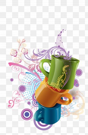 Creative Cup - Cup Watercolor Painting PNG