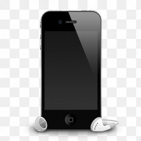 Mobile - IPhone 5 Apple Earbuds Headphones PNG