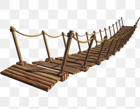 Wooden Plank Bridge Overpass - Suspension Bridge Clip Art PNG