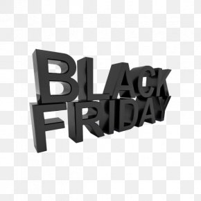 English Creative Three-dimensional Elements Black Friday - East Asian Gothic Typeface Sans-serif Typography PNG