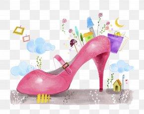 Cartoon Pink High Heels - High-heeled Footwear Pink Stock Photography Shoe PNG