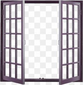 Brown Simple Wooden Window Decoration Pattern - Window Building Door Facade PNG