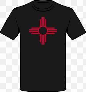 Shirt - Zia Pueblo T-shirt Zia People Flag Of New Mexico Symbol PNG