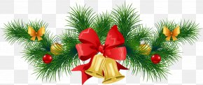 Christmas Cliparts Transparent - Holiday Christmas Garland Clip Art PNG