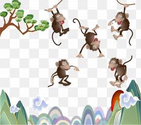 Naughty Monkey - Monkey Illustration PNG