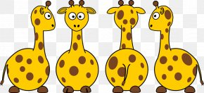 Giraffe Cartoon Picture - Giraffe Cartoon Clip Art PNG