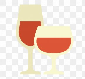 Cartoon Hand Painted Red Wine Glass - Wine Glass PNG