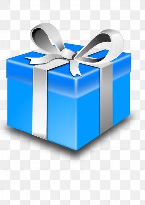 Blue Gift Box - Gift Christmas Santa Claus Clip Art PNG