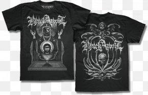 T-shirt - T-shirt Black Anvil Hail Death As Was Logo PNG