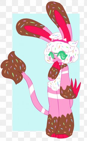 Easter - Easter Bunny Cartoon Pink M PNG