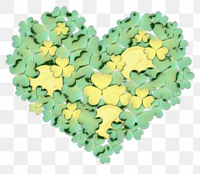 Flower Symbol - Green Yellow Leaf Heart Plant PNG