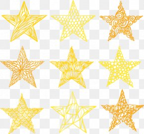 Gold Five-pointed Star - Pentagram Five-pointed Star Gold PNG