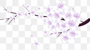 Pink Branches Peach Decorative Pattern - Cherry Blossom Download Computer File PNG