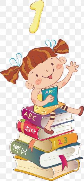Creative Cute Kids Poster - Child Book Clip Art PNG