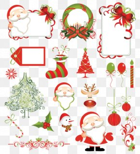 Creative Christmas Tree Santa Claus - Christmas Tree Santa Claus Pattern PNG