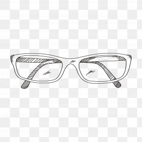 Glasses Drawing Eye - Glasses Vector Graphics Drawing Stock Illustration PNG