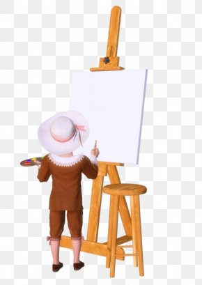 Tube - Easel Drawing Painting Painter Art PNG