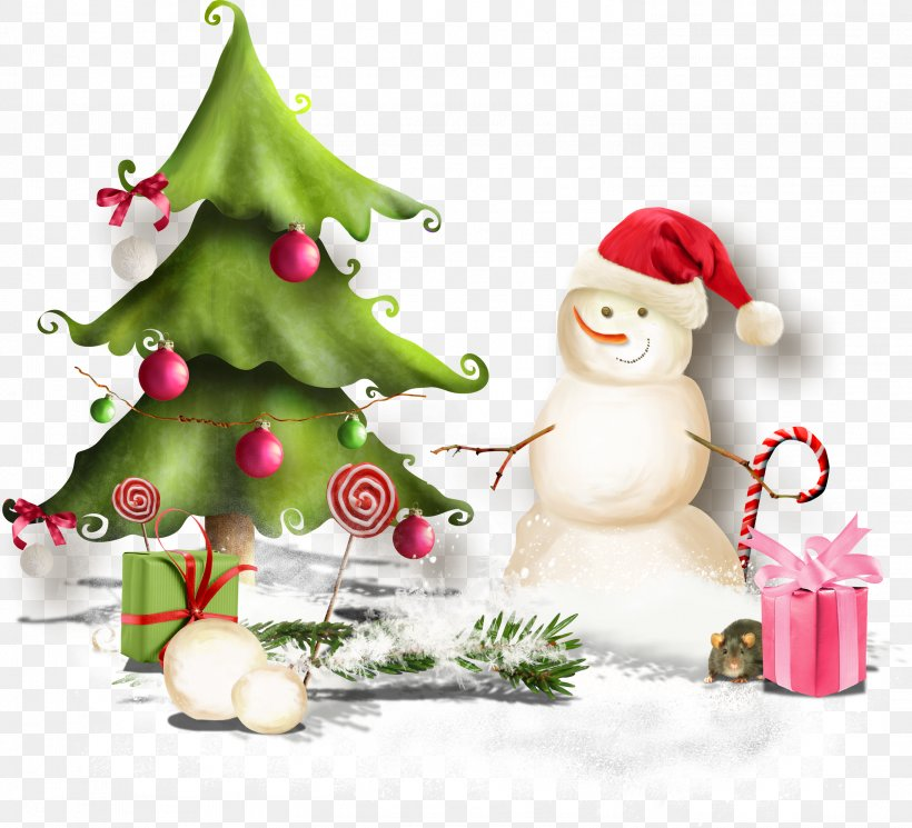 Christmas Tree Snowman Ded Moroz New Year Clip Art, PNG, 3007x2732px, Christmas Tree, Ball, Christmas, Christmas Day, Christmas Decoration Download Free