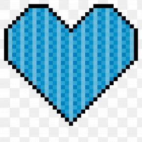 Heart Turquoise - Blue Aqua Turquoise Line Heart PNG
