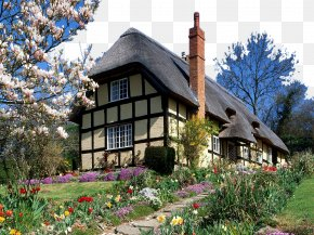 England Charming Landscape Two - England Manor House English Country House Cottage PNG